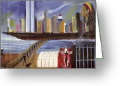 Center City Painting Greeting Cards - River of Babylon  Greeting Card by Ikahl Beckford