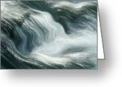 Vedder Greeting Cards - River Rapids Greeting Card by Kaj R. Svensson