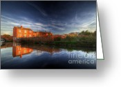 Sunset Framed Prints Greeting Cards - River Reflections Greeting Card by Yhun Suarez