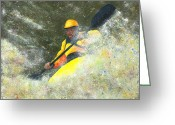 River Pastels Greeting Cards - River Runner Greeting Card by Garry McMichael