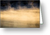 Morning Greeting Cards - River Smoke Greeting Card by Bob Orsillo