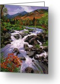 Most Greeting Cards - RIver Sounds Greeting Card by David Lloyd Glover