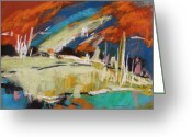 Expression Pastels Greeting Cards - River Storm Greeting Card by John  Williams