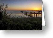 Landscape Photographs Greeting Cards - River Sunsrise - Florida Sunrise Scenic Greeting Card by Rob Travis