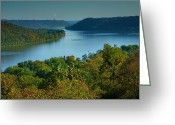 Indiana Autumn Photo Greeting Cards - River View II Greeting Card by Steven Ainsworth