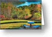 Indiana Autumn Greeting Cards - River View IV Greeting Card by Steven Ainsworth