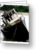 Dan Daulby Greeting Cards - River Wreck Greeting Card by Dan Daulby