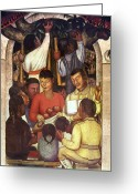 Mesoamerican Greeting Cards - Rivera: Education, 1926 Greeting Card by Granger