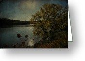 Vintage Photographs Greeting Cards - Rivers Thoughts  Greeting Card by Jerry Cordeiro