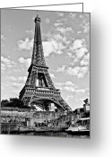 Black And White Greeting Cards - Riverside Greeting Card by Adam Cameron