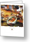Haitian Greeting Cards - Riverside Greeting Card by Bob Salo