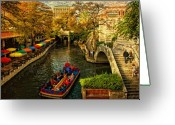 Steps Digital Art Greeting Cards - RiverWalk Greeting Card by Iris Greenwell