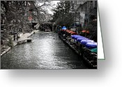 Alamo Greeting Cards - Riverwalk Greeting Card by Shane Rees