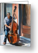 Music Greeting Cards - Riviera Rhythms Greeting Card by Jennifer Lycke