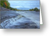 Riviere Greeting Cards - Riviere des Prairies Panorama Greeting Card by Mircea Costina Photography