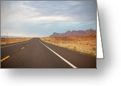 Marking Photo Greeting Cards - Road Greeting Card by Elena Fantini
