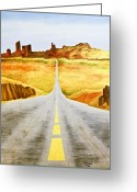 Blacktop Greeting Cards - Road Home Greeting Card by Emilio Lovisa