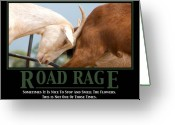 Rage Greeting Cards - Road Rage Greeting Card by Lisa Knechtel