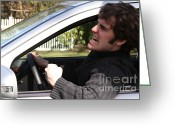 Shout Greeting Cards - Road Rage Greeting Card by Photo Researchers