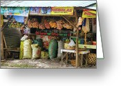 Cebucity Greeting Cards - Road Side Store Philippines Greeting Card by James Bo Insogna