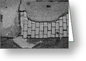 Bricks Greeting Cards - Road Textures Greeting Card by Mike McGlothlen