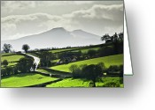 Green Day Greeting Cards - Road To Brecon Beacons Greeting Card by Ginny Battson