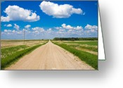 Prairie Greeting Cards - Road to Nowhere Greeting Card by Bob Mintie