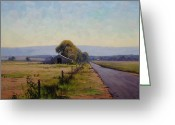 Shed Greeting Cards - Road To Richmond Greeting Card by Graham Gercken