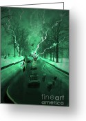 Road Trip Greeting Cards - Road Trip Effects  Greeting Card by Cathy  Beharriell