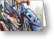 Rust Greeting Cards - Roadmaster Greeting Card by Andrew King