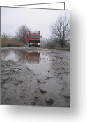 Contry Greeting Cards - Roads - truck Greeting Card by Mykhaylo Ivanenko