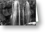 White Digital Art Greeting Cards - Roadside Waterfall - Ireland Greeting Card by Mike McGlothlen