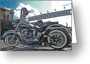 Fort Davidson Greeting Cards - Roadster at the Stockyards Greeting Card by Mamie Thornbrue