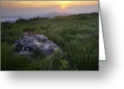 Appalachian Trail Greeting Cards - Roan Mountain Highlands Sunrise - Appalachian Trail Scenic Landscape Greeting Card by Rob Travis