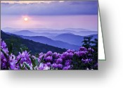 Mountains Photographs Greeting Cards - Roan Mountain Sunset Greeting Card by Rob Travis
