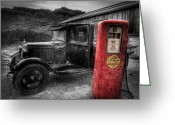 Gaspump Greeting Cards - Roar With Gilmore Greeting Card by Michael Yeager