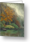River Pastels Greeting Cards - Roark Bluff Greeting Card by Garry McMichael