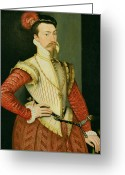 Van Dyke Greeting Cards - Robert Dudley - 1st Earl of Leicester Greeting Card by Steven van der Meulen