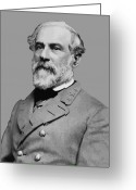 Rebel Greeting Cards - Robert E Lee Confederate Hero Greeting Card by War Is Hell Store