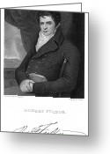 Autograph Greeting Cards - Robert Fulton (1765-1815) Greeting Card by Granger