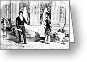 Napoleonic Wars Greeting Cards - Robert Fulton And Napoleon I, 1804 Greeting Card by Photo Researchers