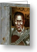 Hall Of Fame Greeting Cards - Robert Leroy Johnson Greeting Card by Thomas Hoyle