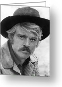 Cowboy Hat Photo Greeting Cards - Robert Redford (1936-) Greeting Card by Granger