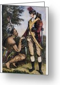 1750s Greeting Cards - Robert Rogers (1731-1795) Greeting Card by Granger