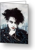 Singer Songwriter Greeting Cards - Robert Smith Greeting Card by Danielle Haney