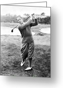 Playing Golf Greeting Cards - Robert Tyre Jones Greeting Card by Granger