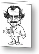 Making Out Greeting Cards - Robert Winston, British Scientist Greeting Card by Gary Brown