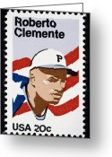 Pirates Greeting Cards - Roberto Clemente Greeting Card by Granger