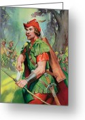Bows Greeting Cards - Robin Hood Greeting Card by James Edwin McConnell