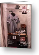 Hall Of Fame Photo Greeting Cards - Robin Ventura Greeting Card by David Bearden